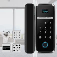 Single/Double Open Door Fingerprint Lock Fingerprint & Touchscreen Smart Lock Glass Door Lock(WF-012