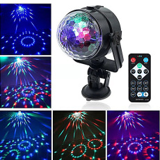 LED Crystal Car Small Magic Ball Disco Light
