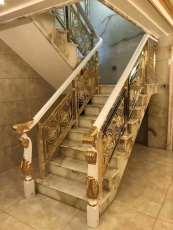 銅鋁樓梯雕刻護欄