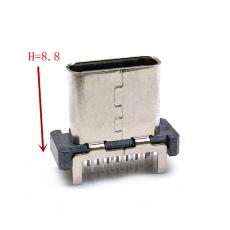 TYPE-C 16P母座立插H8.8新款