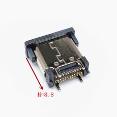 TYPE-C 24P母座立式貼片L8.8