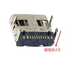 TYPE-C16P母座前插后貼L7.35腳長2.0