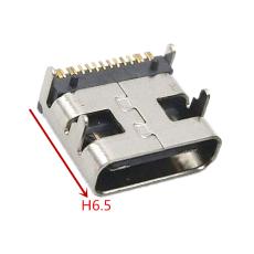 TYPE-C 16P母座短體前插后貼L6.5
