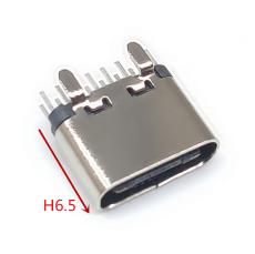 TYPE-C16P母座立式插板H6.5