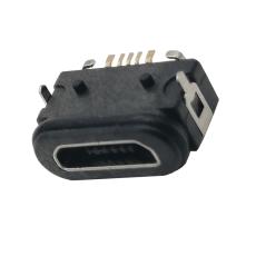 MICRO5P防水母座兩腳插板帶定位柱
