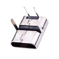 MICRO2P母座90度插板直邊