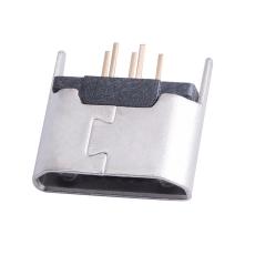 MICRO5P母座180度立式插板直邊