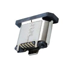 MICRO5P母座立式貼板卷邊