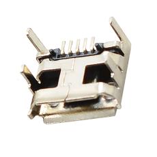 MICRO5P母座四腳插板加長腳卷邊